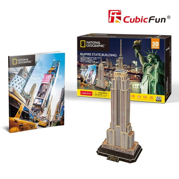 Cubicfun: City Traveller New York 66 darabos 3D puzzle