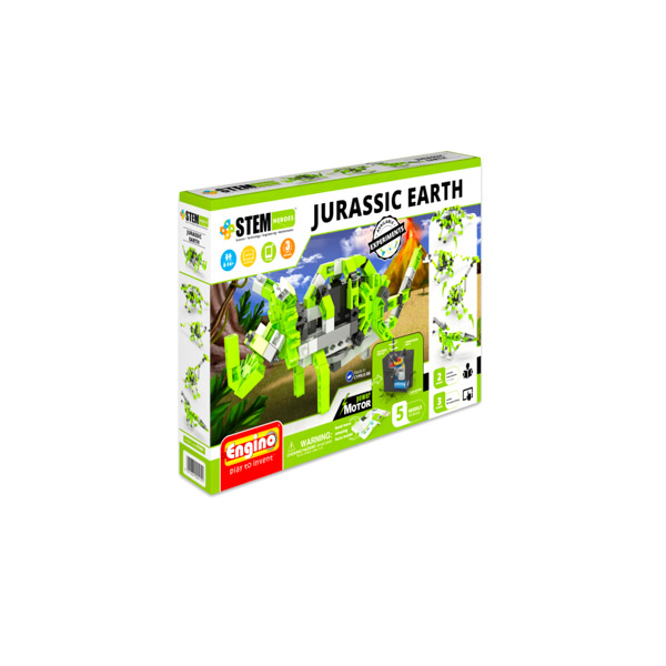 Engino Stem: Set de construcţie motorizat- Jurassic Earth